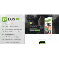EOS – A Responsive Bootstrap 3 App Landing Page