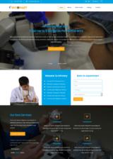 Лендинг для медицинского сайта Infirmary