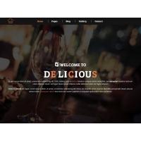 Адаптивный HTML шаблон для ресторанов