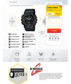 Landing page легендарные часы Casio G-Shock