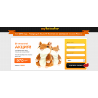 Landing page сайт говорящий хомяк 2