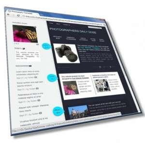 Шаблон для фотографов: HTML, CSS, 8 страниц