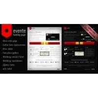 Лендинг для мероприятий и событий - Evente