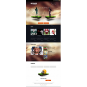 Шаблон Sport Landing Page [HTML]