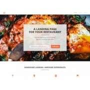 Красивый landing page для кафе и ресторанов