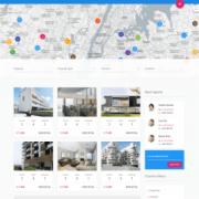Landing page недвижимость Realsite