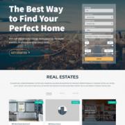 Лендинг недвижимость Realty Space v2.2