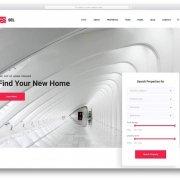 Лендинг недвижимость Sel с фильтром для сайта
