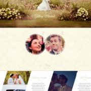 Универсальный лендинг свадебного сайта