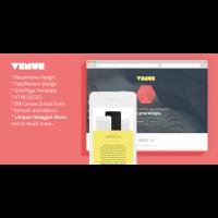 Venue — современный и креативный Landing Flat