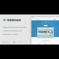 Webinar — шаблон Landing Page для организации