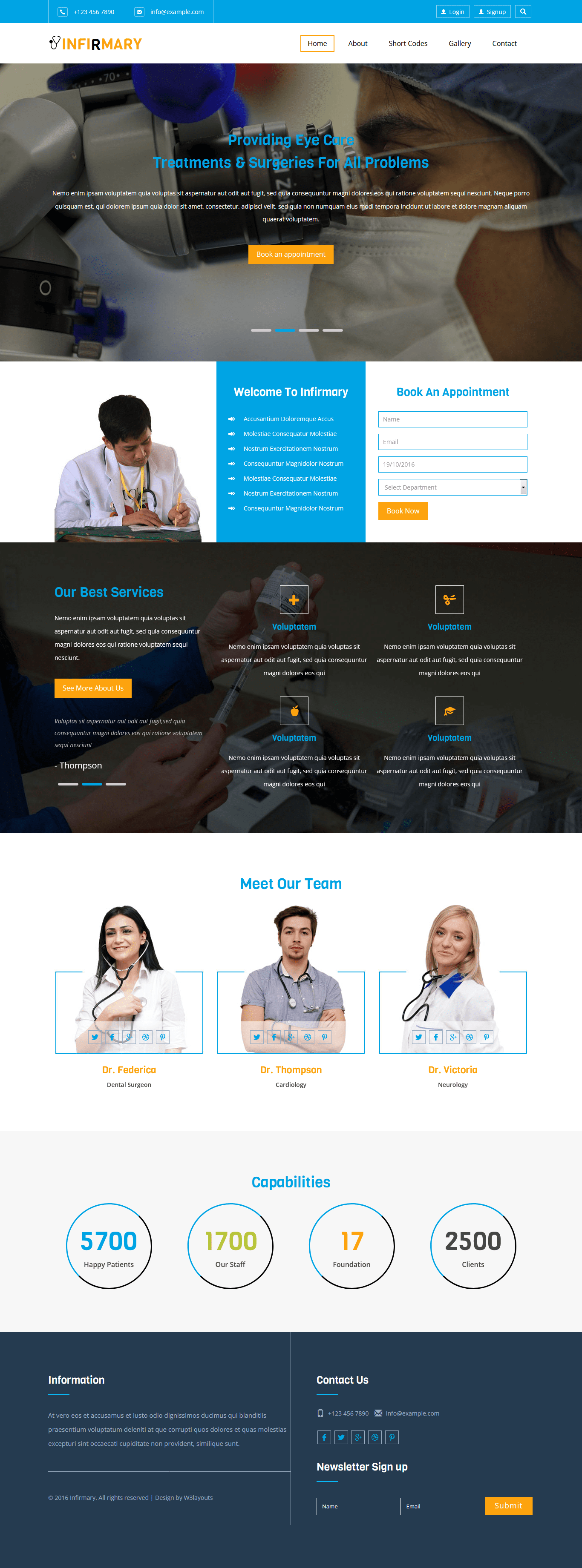 Infirmary a Medical Category Flat Bootstrap Responsive Website